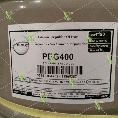 پلی اتیلن گلیکول ۴۰۰ – PEG 400